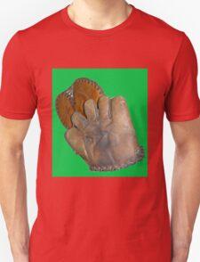 Two Vintage Baseball Mitts Unisex T-Shirt