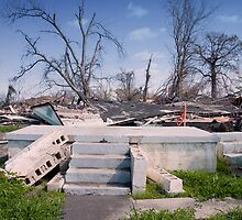 Steps of a Ruin on the Mississippi Coast after Katrina by Carol M.  Highsmith