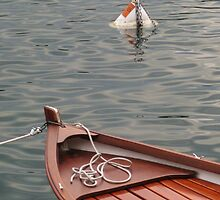 Boat and buoy by Matthew Pugh