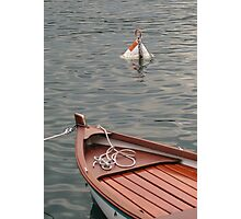 Boat and buoy Photographic Print