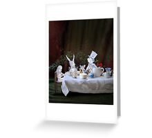 Alice in Wonderland/The Tea Party Greeting Card