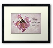 Hearts & flowers for Mother's Day Framed Print