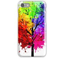 Rainbow Tree With Colour Splats iPhone Case/Skin