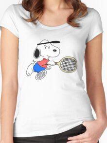 Arcade Classic - Snoopy Tennis Women's Fitted Scoop T-Shirt