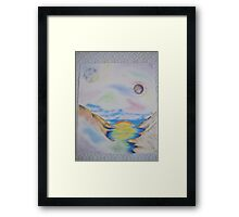 Space World Abstract Framed Print
