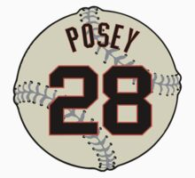 Buster Posey Baseball Design by canossagraphics