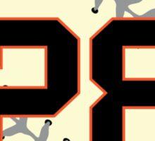 Buster Posey Baseball Design Sticker