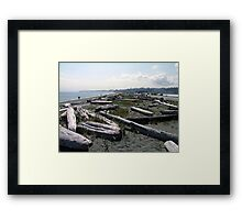 Stroll Among The Logs Framed Print