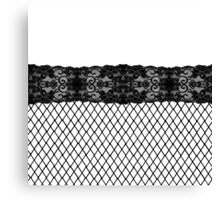 Elegant Pretty Thigh Stocking Fishnet Lace Canvas Print