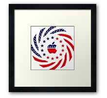Apple Murican Patriot Flag Series Framed Print