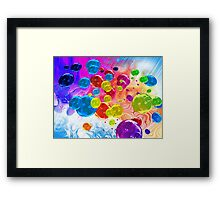 When Rainbows Melt Into Bubbles Framed Print