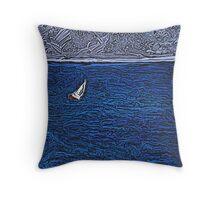 Honolulu Sailboat Throw Pillow