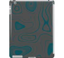 Teal and Gray iPad Case/Skin