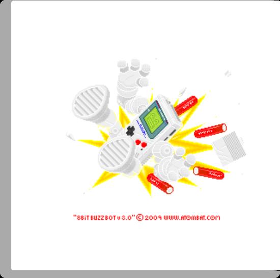 """8 Bit Buzz Bot v3.0.1 """"GameBoid""""  by atombat"""