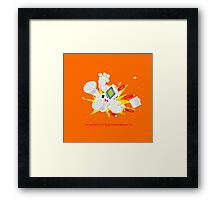 "8 Bit Buzz Bot v3.0.2 ""GameBoid""  Framed Print"