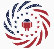 Android Murican Patriot Flag Series Kids Tee