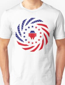 Android Murican Patriot Flag Series Unisex T-Shirt