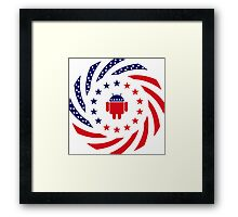 Android Murican Patriot Flag Series Framed Print