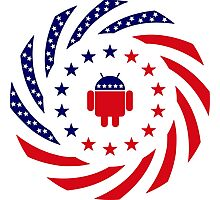 Android Murican Patriot Flag Series Photographic Print