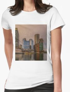 View on Boston tea party Womens Fitted T-Shirt