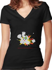 """8 Bit Buzz Bot v3.0.1 """"GameBoid""""  Women's Fitted V-Neck T-Shirt"""