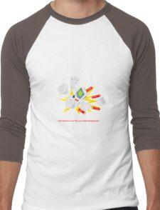 """8 Bit Buzz Bot v3.0.1 """"GameBoid""""  Men's Baseball ¾ T-Shirt"""
