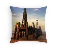 St. Annes Pier HDR Throw Pillow