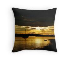 Golden Bay Throw Pillow