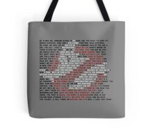 Ghostbusters Quote Logo Tote Bag
