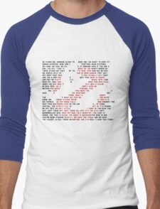 Ghostbusters Quote Logo Men's Baseball ¾ T-Shirt
