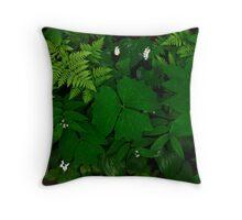 Deep Green Throw Pillow