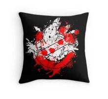 Ghostbusters Logo Paint Splatter Throw Pillow