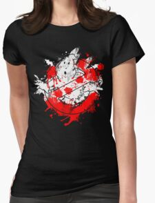 Ghostbusters Logo Paint Splatter Womens Fitted T-Shirt