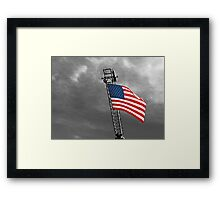 'Tis the star-spangled banner! Oh long may it wave!  O'er the land of the free and the home of the brave! Framed Print