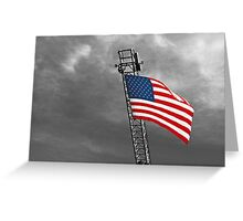 'Tis the star-spangled banner! Oh long may it wave!  O'er the land of the free and the home of the brave! Greeting Card