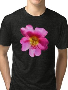 'Pink Portulaca' Tri-blend T-Shirt