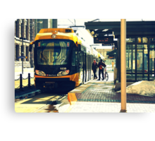Downtown Minneapolis Train Canvas Print