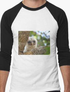 Baby Barred Owl Men's Baseball ¾ T-Shirt