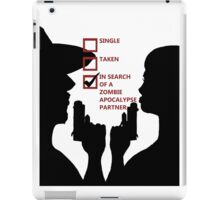 Zombie Survival Partners Collection (with text) iPad Case/Skin
