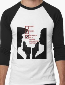 Zombie Survival Partners Collection (with text) Men's Baseball ¾ T-Shirt