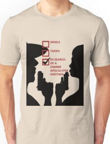 Zombie Survival Partners Collection (with text) Unisex T-Shirt