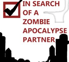 Zombie Survival Partners Collection (with text) Sticker