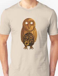 wooden owl clock Unisex T-Shirt