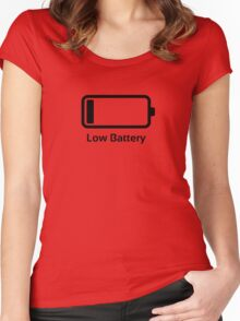 Low battery / Funny & Cool / loading bar Women's Fitted Scoop T-Shirt