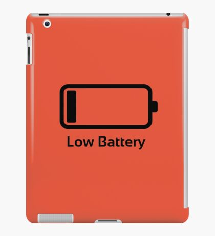Low battery / Funny & Cool / loading bar iPad Case/Skin
