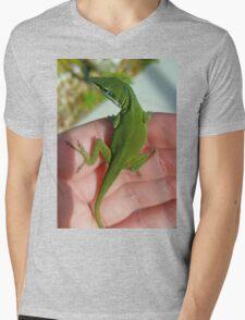 Green Anole Mens V-Neck T-Shirt
