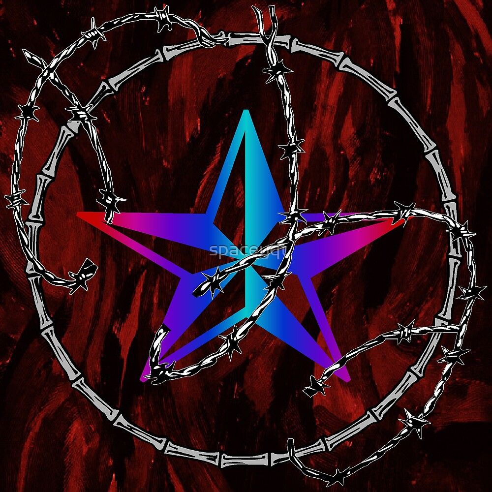 Barbed Wire Nautical Star by spaceyqt