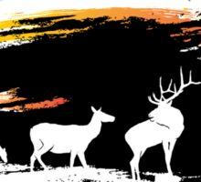 Elk Sunset Sticker