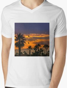 Sunrise in California Mens V-Neck T-Shirt