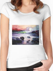 Fire and Water 1.0  Women's Fitted Scoop T-Shirt